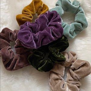 Pile of Velvet Scrunches
